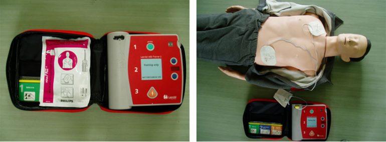 AED(自動体外式除細動器)を導入